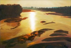 River Sunrise I by John Hulsey, oil on canvas.