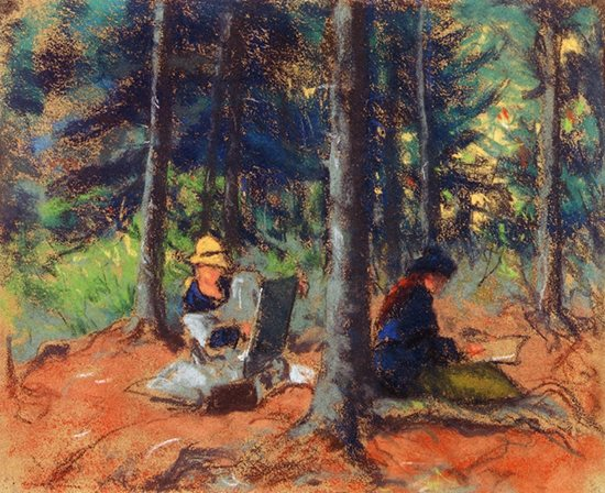 Artists in the Woods by Robert Henri.