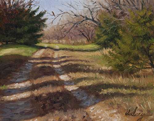 Waiting by John Hulsey, oil painting.