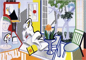 Collage for Still Life With Reclining Nude by Roy Lichtenstein, 1997.