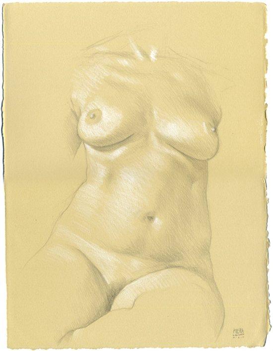 Drawing of Piera's torso by Daniel Maidman.