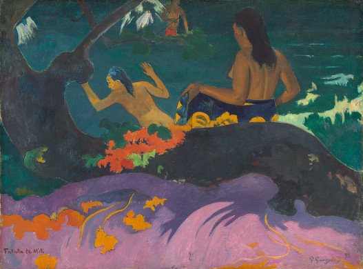 Fatata te Miti (By the Sea) by Paul Gauguin, oil on canvas, 1892.