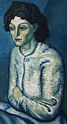 Femme aux Bras Croisés (Woman with Folded Arms) by Pablo Picasso, 1902.