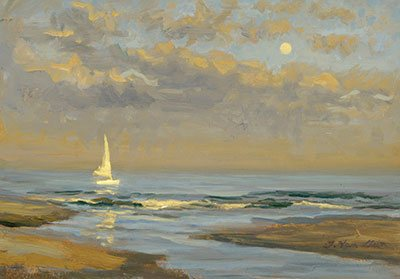 Plein Air - A sunset sketch by painter Thomas Van Stein