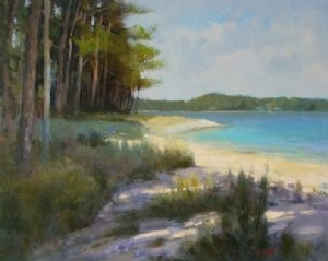 Wakulla Beach by Keith McCulloch, 16 x 20, oil painting.