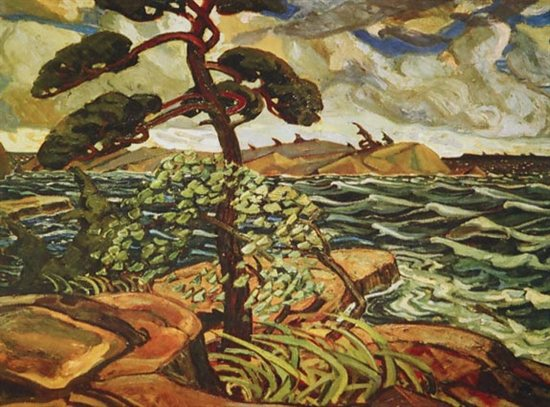 A September Gale, Georgian Bay by Arthur Lismer, oil painting, 1921.