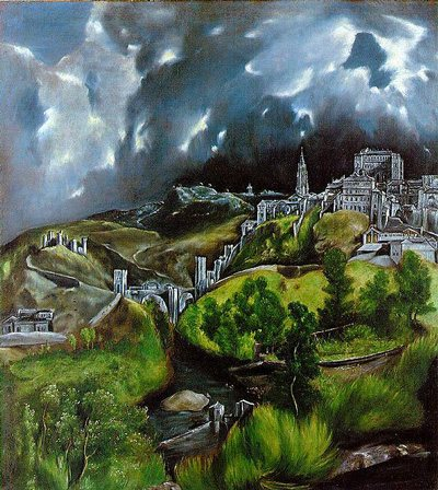 View of Toledo by El Greco, 1596-1600, oil on canvas.
