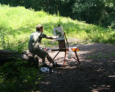 Painting en plein air - Mike
