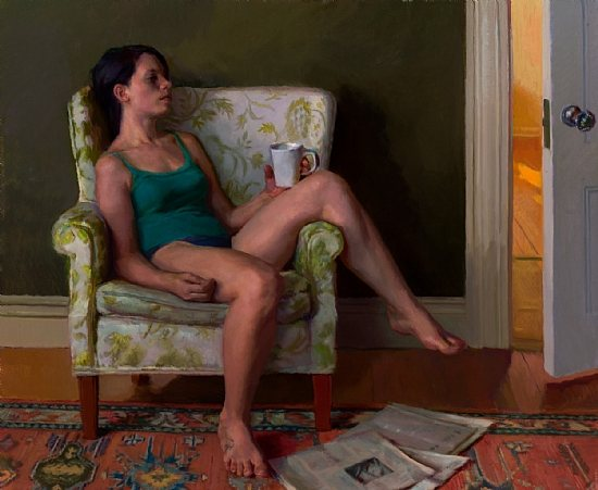 Lea Colie Wight oil painting, Sunday, oil on linen
