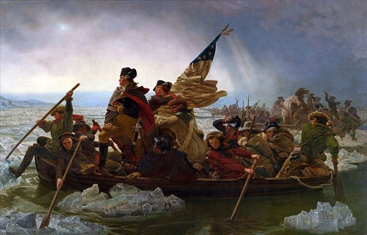 Washington Crossing the Delaware by Emanuel Leutze, 1851, oil on canvas.