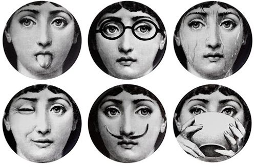 Fornasetti's template of Cavalieri's face gave birth to hundreds of variations.