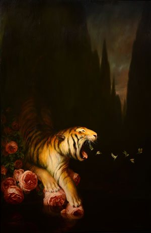 Nocturne by Martin Wittfooth, oil on linen, 72 x 48, 2013.