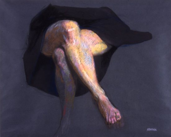 Crossed Legs (Study) 1979, pastel, 19 x 23 by Albert Handell.