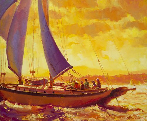 What we are convinced is a flood of trouble may actually be a sea of opportunity. Golden Opportunity by Steve Henderson of Steve Henderson Fine Art.