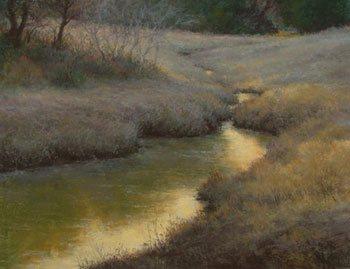 Winter Stream by Denise LaRue Mahlke, 2008, pastel, 14 x 18.