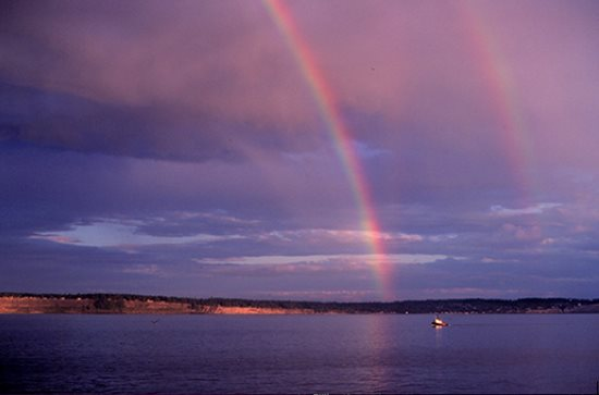 NOAA Photograph of Double Rainbow.