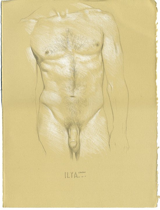 Figure drawing by Daniel Maidman, Ilya