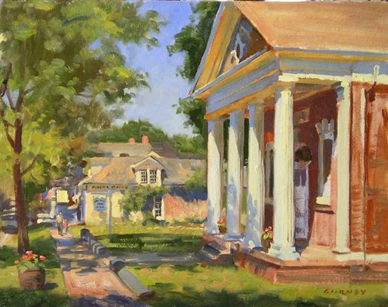 Millbrook Library by James Gurney, oil painting.
