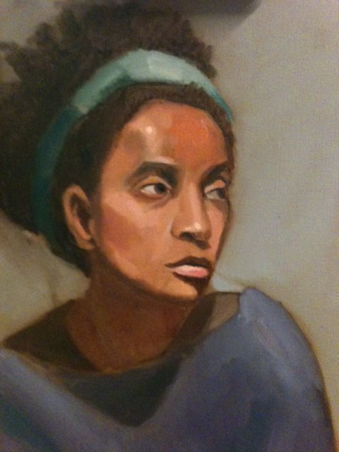 Female portrait painting by Judith St. Ledger-Roty, oil painting.