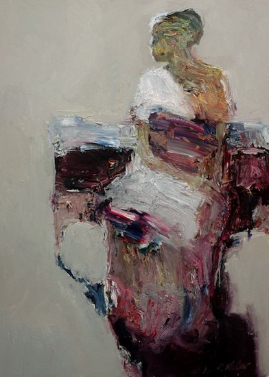Seated Figure by Dan McCaw, 24 x 18, oil painting.