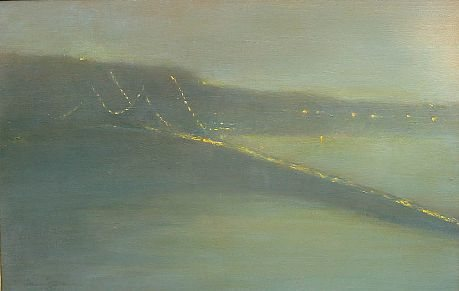 Bridge Nocturne V (Tappan Zee) by Nina Maguire, 2006, acrylic on canvas, 20 x 30.