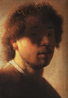 Self-portrait by Rembrandt, oil painting