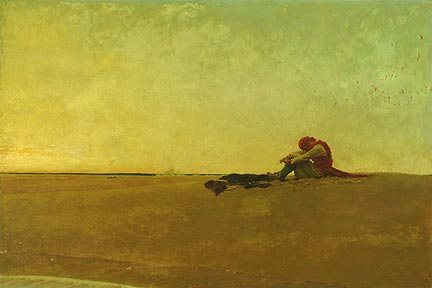 Marooned by Howard Pyle, oil on canvas, 1909.