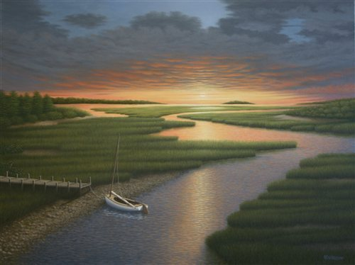Sunset Dreamin' by Frank Weitzman, oil on canvas, 30 x 40.