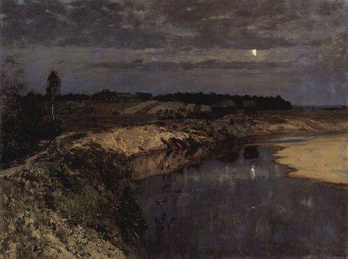 Stille by Isaac Levitan, 1898, 96 × 110 cm, oil on canvas.