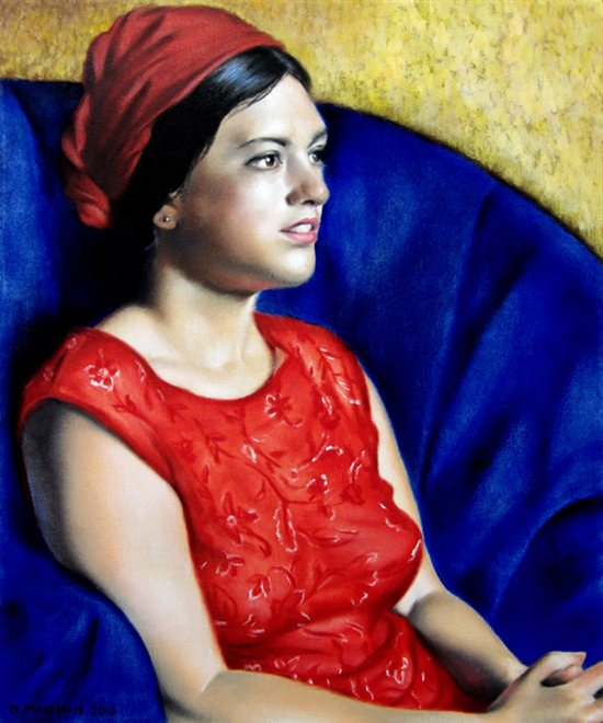 Oil painting by Daniel Maidman: Leah, oil on canvas.