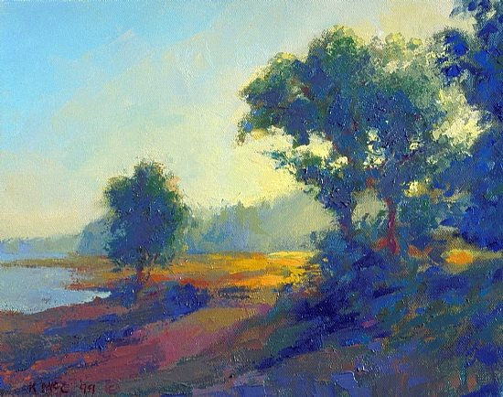 Early Morning by Keith McCulloch, 12 x 16, oil painting.