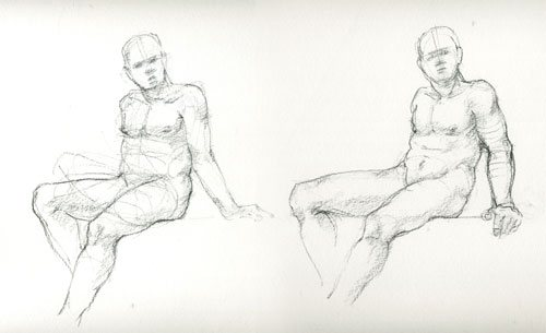 A figure drawing by Robert Stollar.