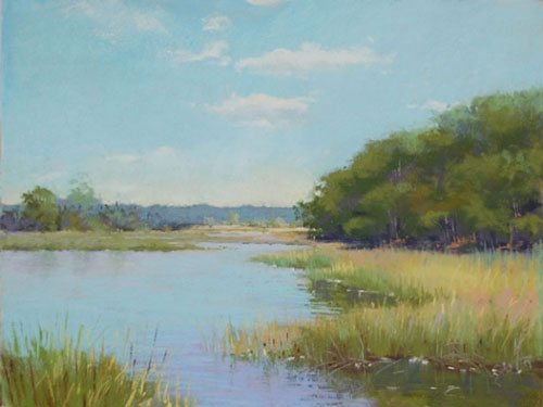End of Summer by Jane McGraw-Teubner, pastel painting on paper, 11 x 14.