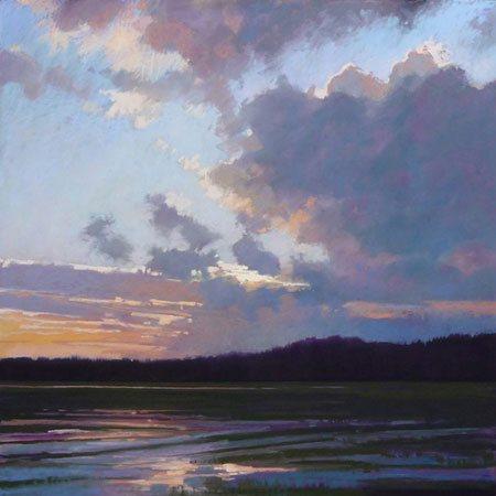 Fanfare by Liz Haywood-Sullivan, pastel painting, 24 x 24.