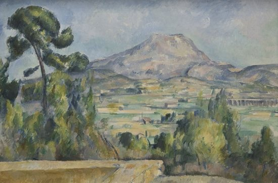 Paul Cézanne, Montagne Sainte-Victoire, oil on canvas, c. 1890.