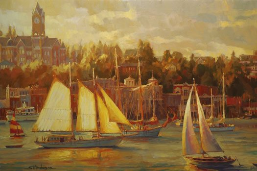 When there are a lot of boats in the harbor, it helps when everyone pays attention to what they're doing and maintains some sense of order. In any juried art show accepting submissions, there are a lot of boats in the harbor. Harbor Faire by Steve Henderson. Courtesy Steve Henderson Fine Art.