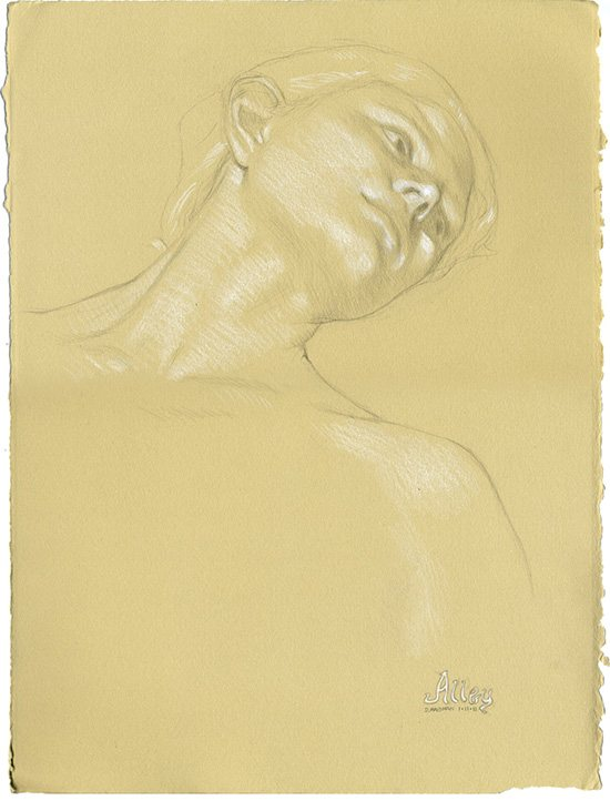 Figure drawing by Daniel Maidman, Alley