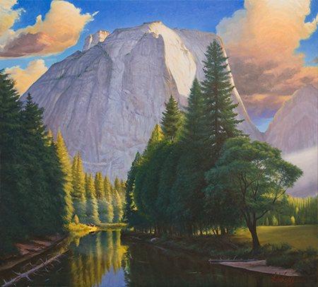 El Capitan by John Hulsey (36 x 36, oil painting).