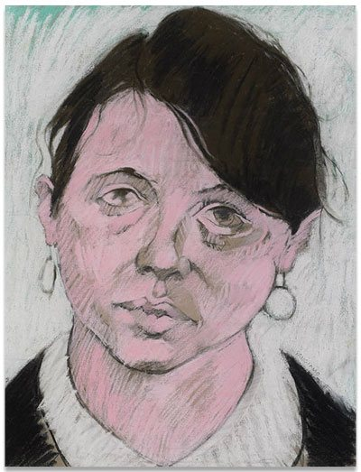 Portrait 02 by Abby Sangiamo, drawing, 1971-72.