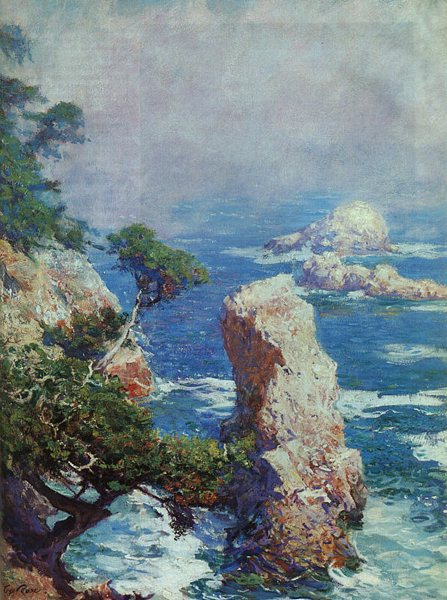 Mist Over Point Lobos, by Guy Rose, 1918, oil painting, 20 x 24.