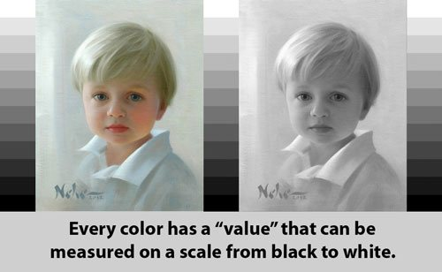 Color has value--a crucial detail to remember in portrait painting.