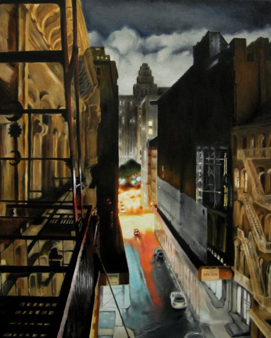 Jade Street, 2011, oil on canvas, 30 x 24.