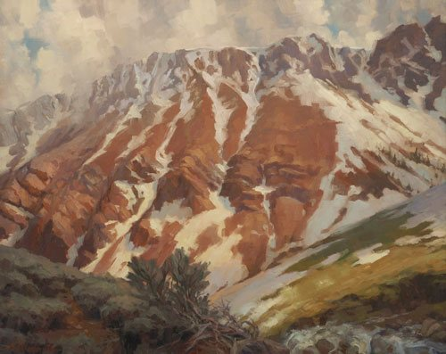 It takes a long time to make a mountain, and piling a few rocks on top of one another just doesn't cut it. In the same way, becoming an artist involves time, patience, and effort--but not necessarily making lots of money. Chief Joseph Mountain by Steve Henderson, oil on canvas, of Steve Henderson Fine Art.