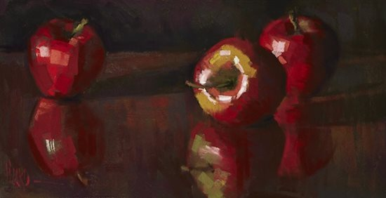 Alain's still life pastel painting.