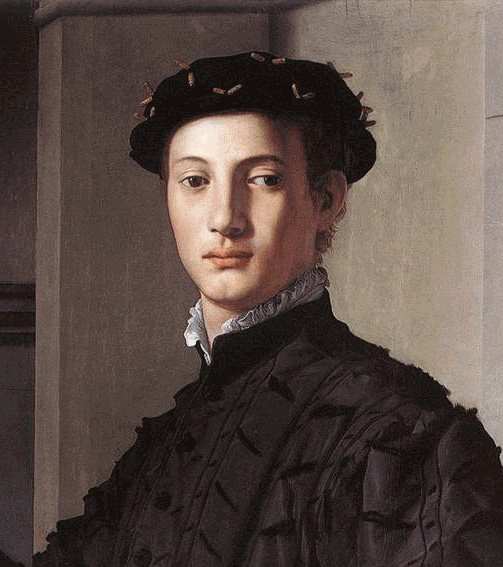 In Bronzino's Portrait of a Young Man, shadows and highlights around the mouth give form to the face.