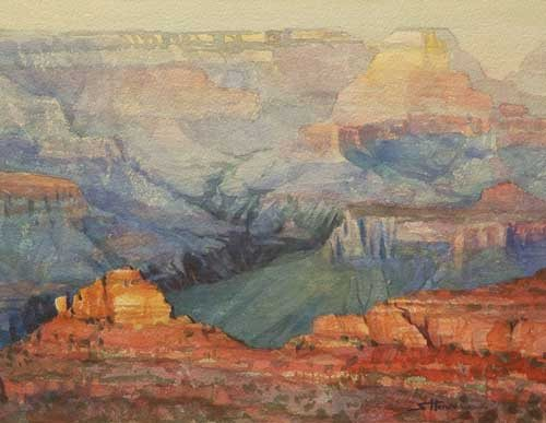 Whether or not anyone ever saw it or recognized it, the Grand Canyon would always be a place of greatness and awe. Many Hued, signed limited edition print by Steve Henderson.