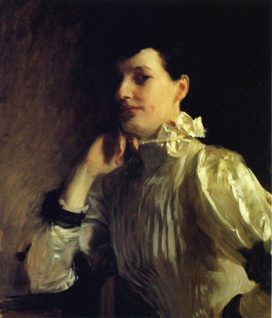 Mabel Marquand by John Singer Sargent, oil painting, c.1891.