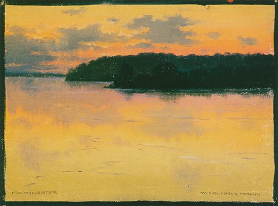 The Mississippi by Frederick Oakes Sylvester, landscape painting.
