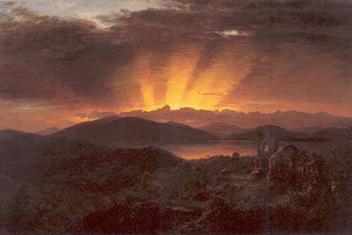 The After Glow by Frederic Church, oil on canvas, 1867.