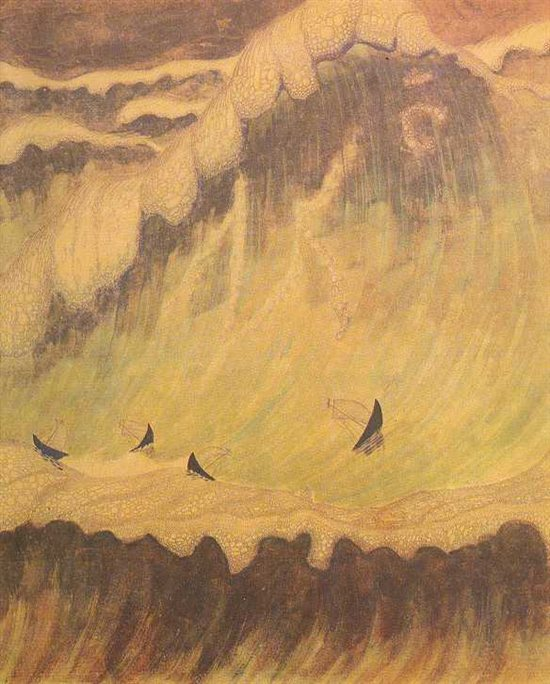 Sonata of the Sea--Finale by Mikalojus Konstantinas Čiurlionis, 1908.